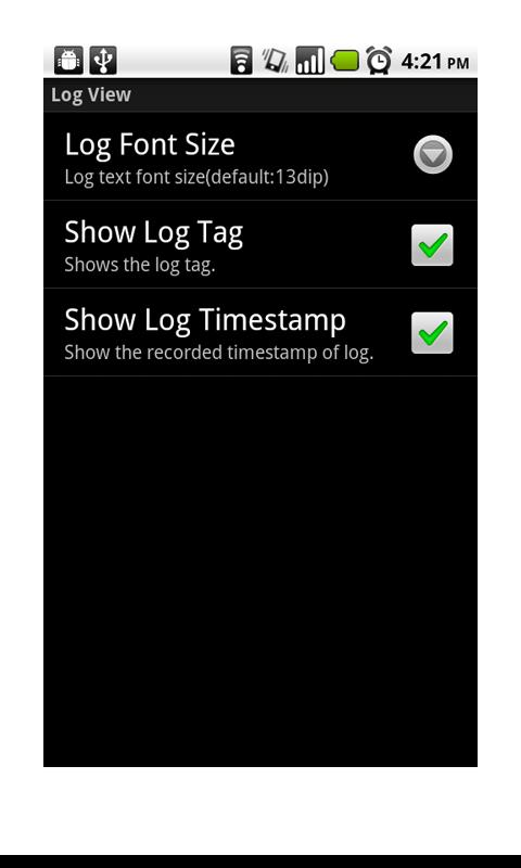 LogViewer Lite (LogCat)- screenshot