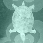 Retro Waggle Turtle