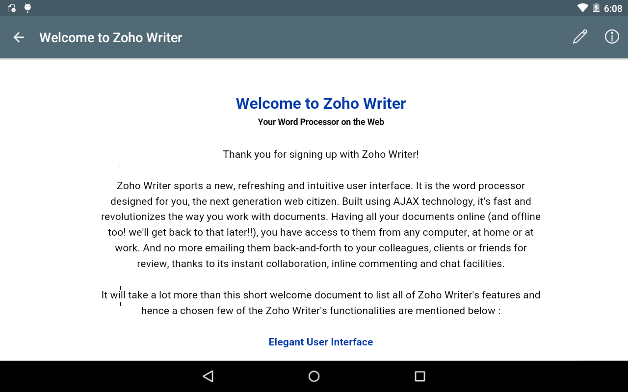 Document Management -Zoho Docs: captura de pantalla