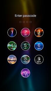 7 Photo Keypad Lock Screen App screenshot