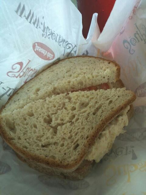 Chicken salad sandwich on Udi's bread