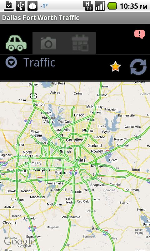 Dallas Fort Worth Traffic- screenshot