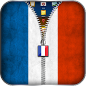 France Flag Zipper Lock APK for Bluestacks