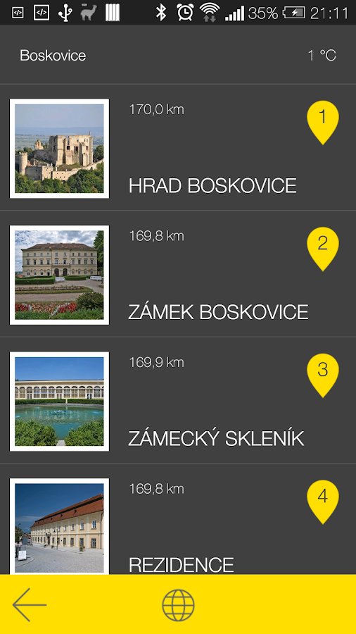 Boskovice - audio tour- screenshot