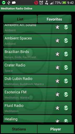 瞑想はラジオオンラインをリラックス