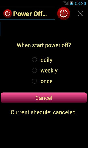 Power off Schedule