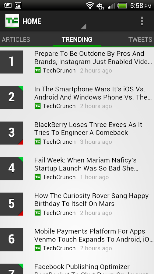 TechCrunch - screenshot