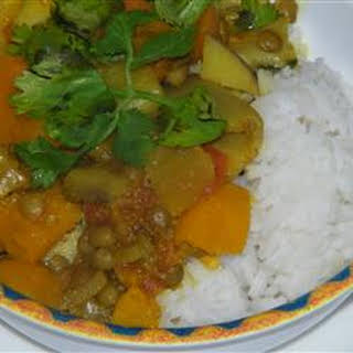 Pumpkin Curry with Lentils and Apples.