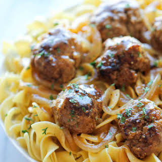 Salisbury Steak Meatballs.