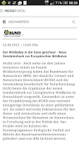 Screenshot of Presseportal