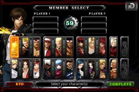 THE KING OF FIGHTERS Android - screenshot