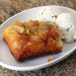 Upside-Down Apple Cake With Streusel Topping