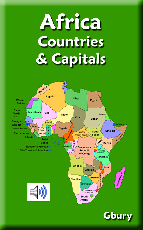 Africa Countries and Capitals Map Puzzle