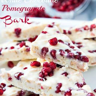 White Chocolate Pomegranate Bark