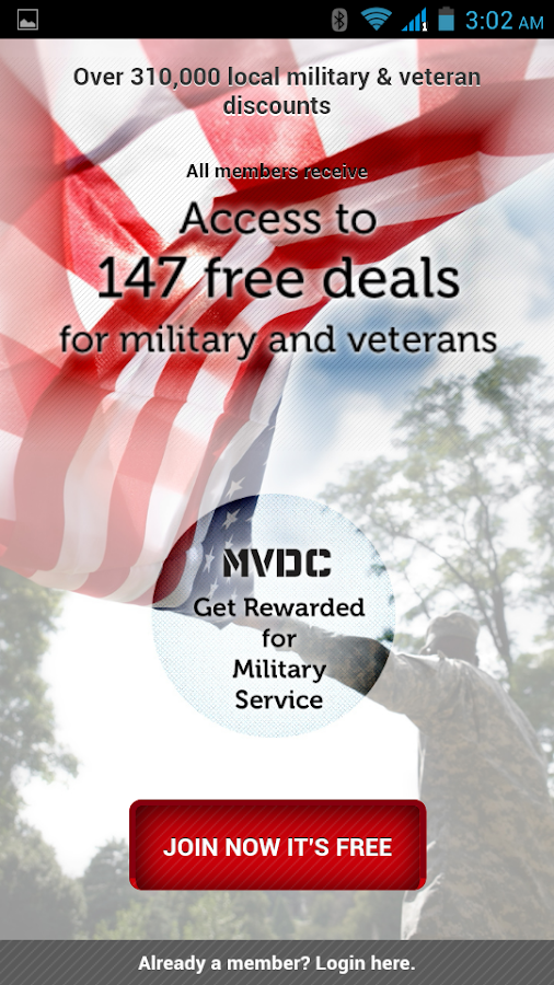 MVDC Military & Vet Discounts - screenshot
