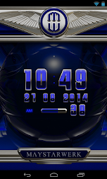 Digi Clock Widget Blue Saphir APK screenshot thumbnail 3