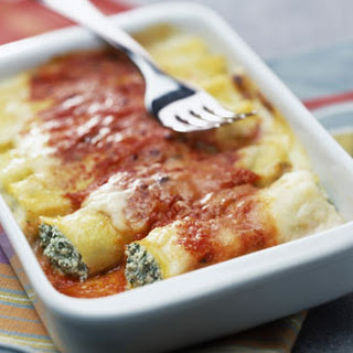Ricotta And Spinach Cannelloni.