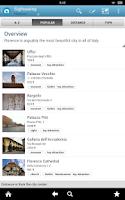 Screenshot of Florence Travel Guide Triposo
