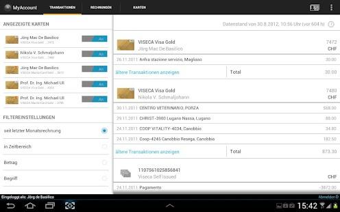 MyAccount Mobile Viseca – Miniaturansicht des Screenshots