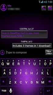GO SMS Purple Platinum Theme - screenshot thumbnail