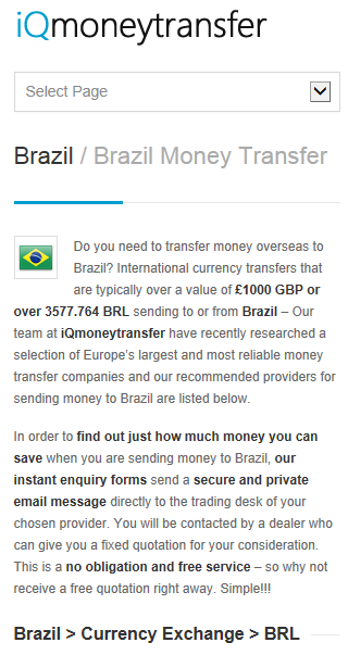 Brazil Transfer BRL - screenshot