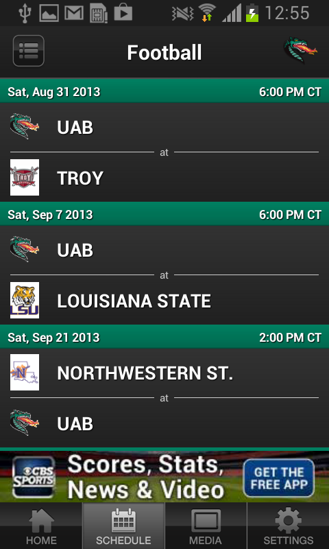 UAB Athletics - screenshot