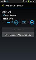 Screenshot of Very Battery Status