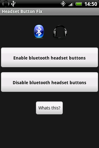 Headset Button Fix - screenshot