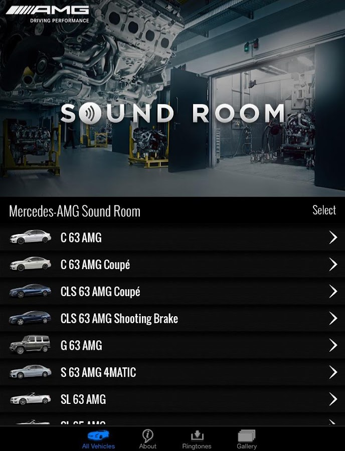 AMG Soundroom - screenshot
