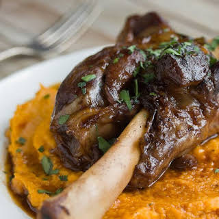 Braised Lamb Shanks & Root Vegetable Puree.