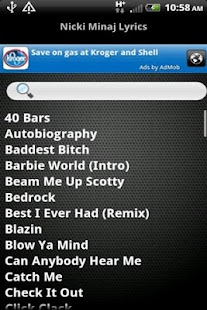 Nicki Minaj Ringtones & Lyrics - screenshot thumbnail