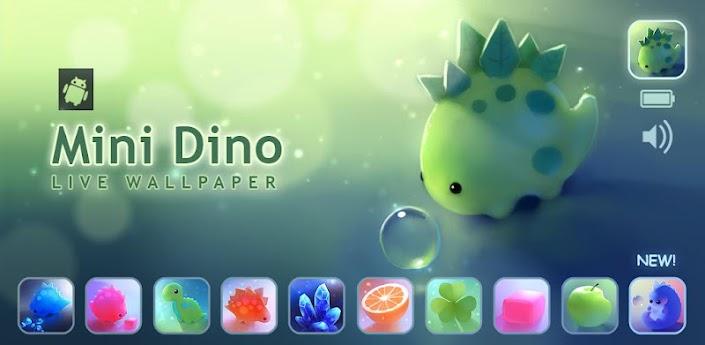 Скачать Mini Dino - красочные живые обои с динозаврами