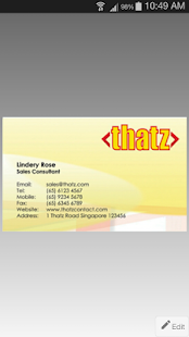 ThatzContact- screenshot thumbnail