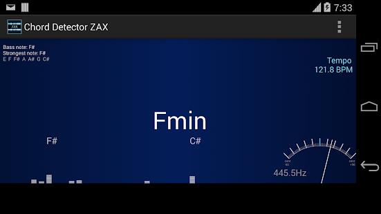 玩免費音樂APP|下載ZAX Chord detector 和弦 app不用錢|硬是要APP
