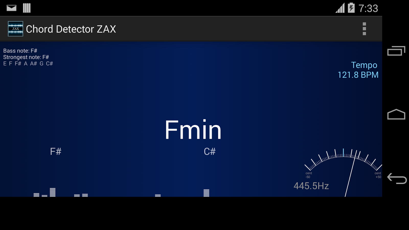 Chord detector zax android apps on google play chord detector zax screenshot hexwebz Choice Image