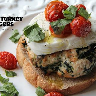 Caprese Turkey Burgers.