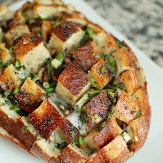 Cheesy Mushroom Pull Apart Bread.