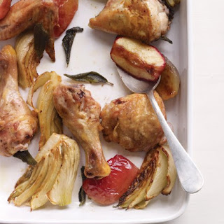 Baked Chicken with Fennel and Apples