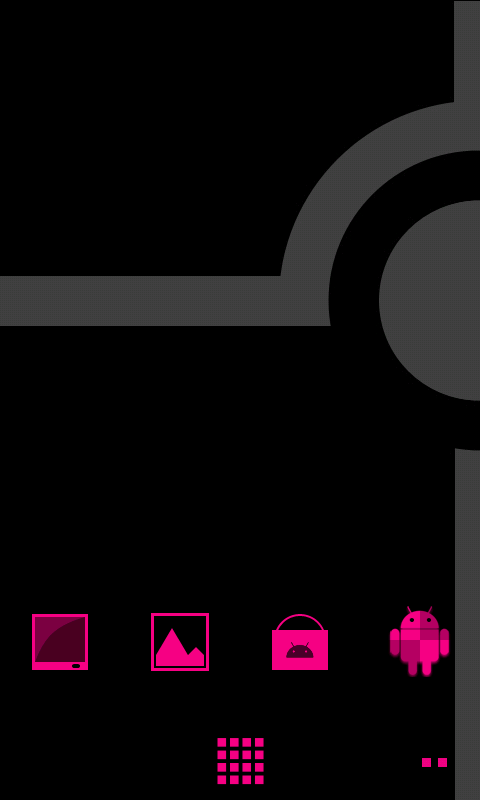Minimalist_Pink - ADW Theme - screenshot