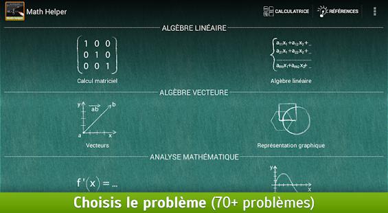 Math Helper: Algèbre et Calcul - screenshot thumbnail
