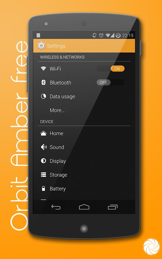 Orbit Amber Free-PA/CM11 Theme - screenshot