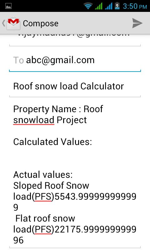 Roof snow load calculator android apps on google play for Snow load roof pitch