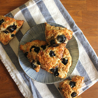 Blueberry Maple Oatmeal Scones