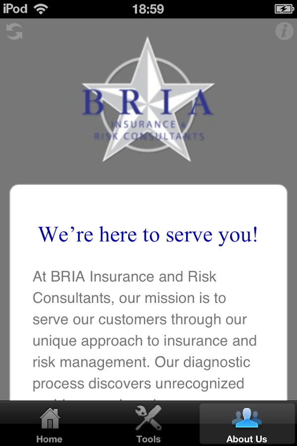 BRIA Insurance- screenshot
