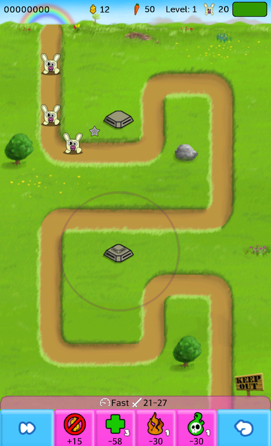 RabbiT Defence - screenshot