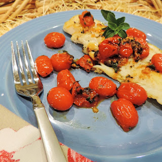 Cod w/ Balsamic Cherry Tomatoes