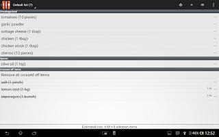Screenshot of Food Planner Pro Module