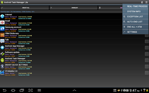 Android Task Manager Lite - screenshot thumbnail