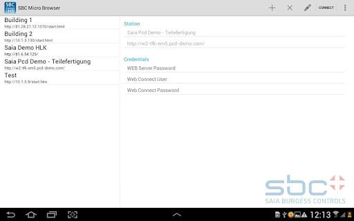 SBC Micro Browser