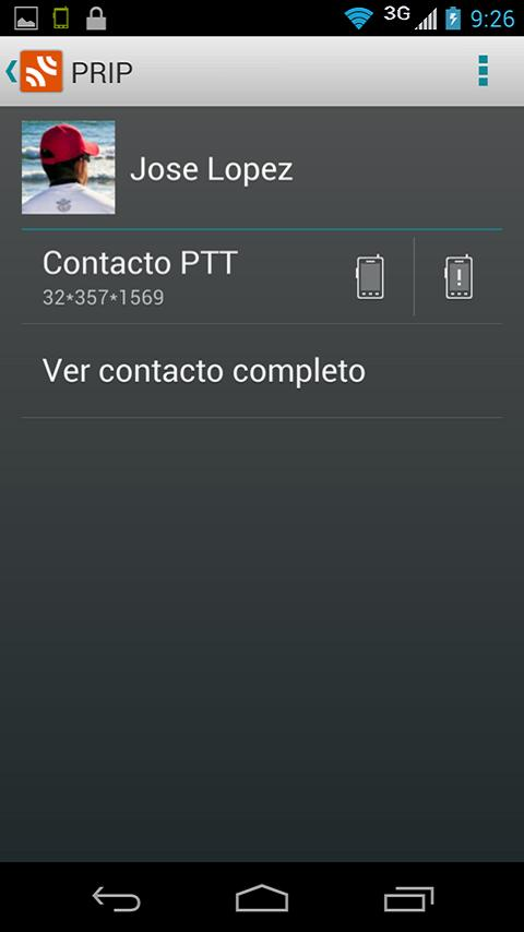 Prip - Servicio Radio Nextel - screenshot